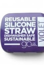 GoSili Extra Long Straw with Tin