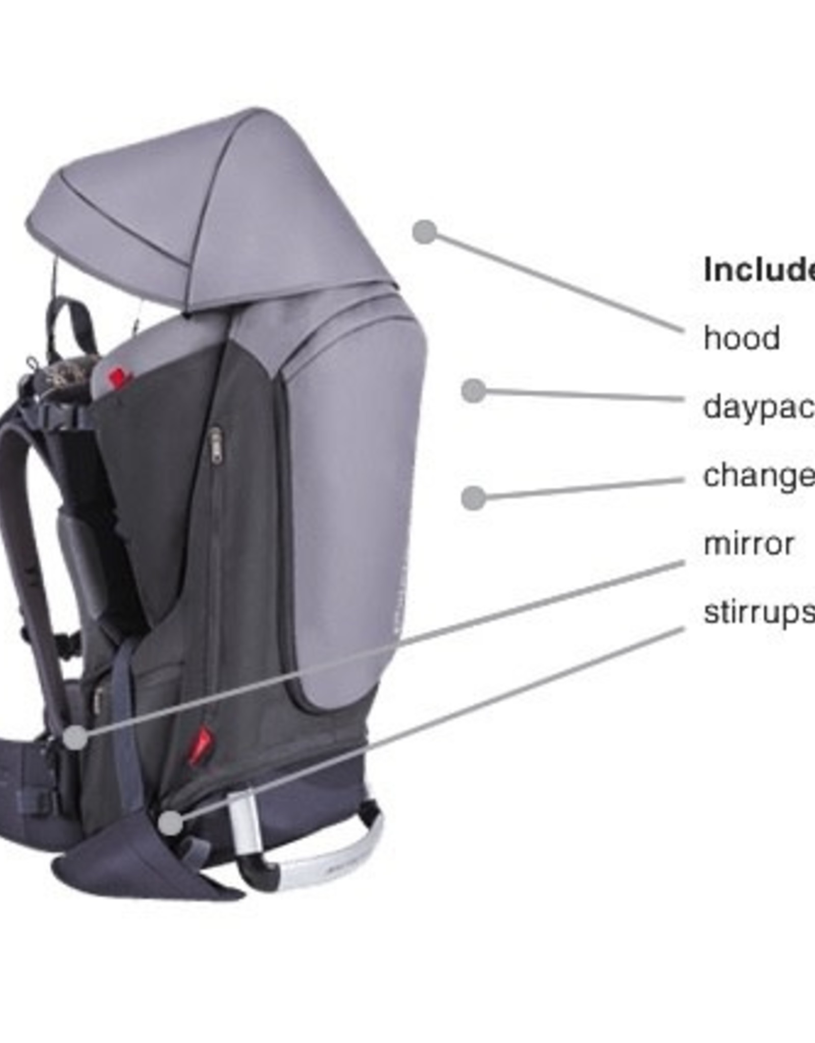 Phil & Teds   Mountain Buggy Phil & Teds- Escape Child Carrier Backpack