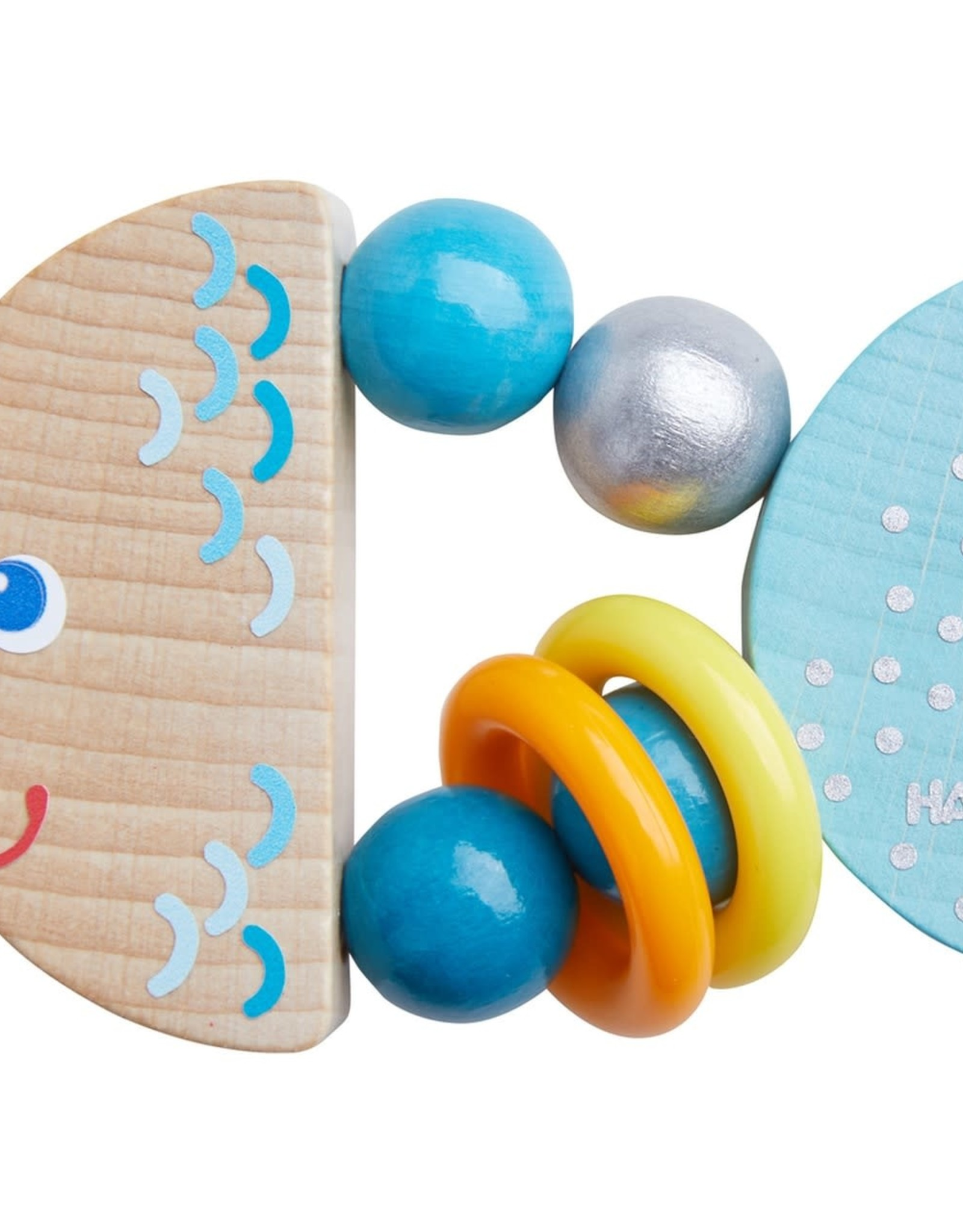 Haba Wooden Clutching Toy Rattlefish
