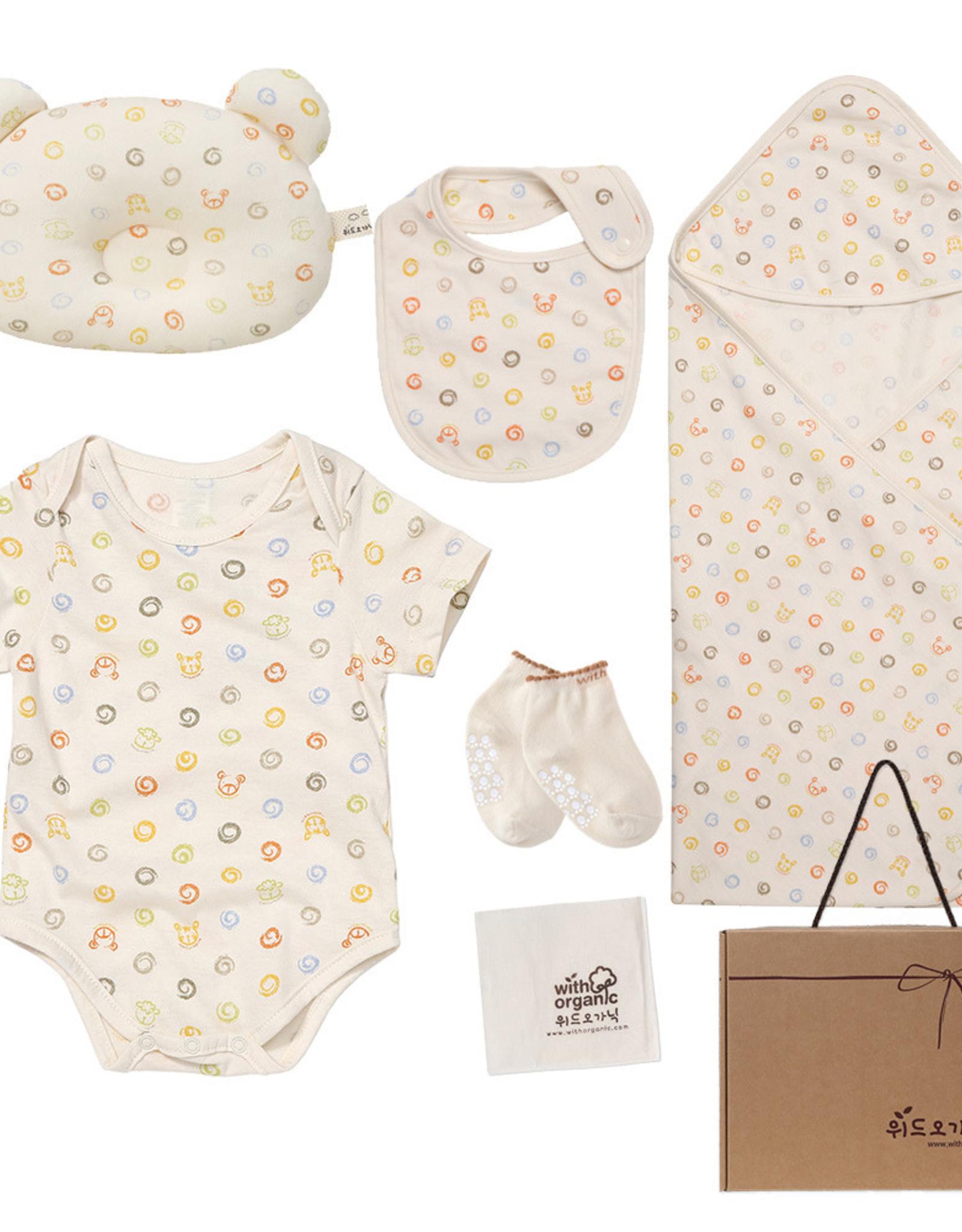 WithOrganic Organic Baby 7 Piece Gift Set