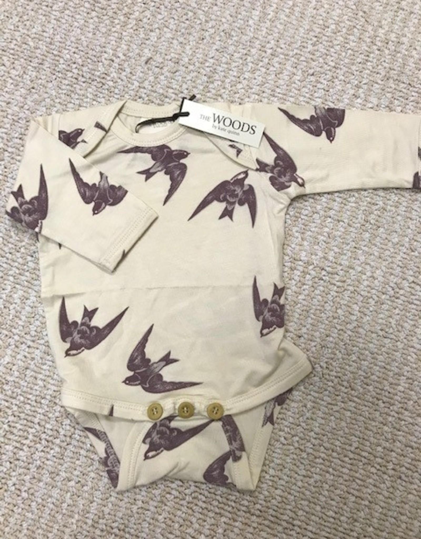 Kate Quinn Organics LS Lap Neck Body Suit | Beechwood modal
