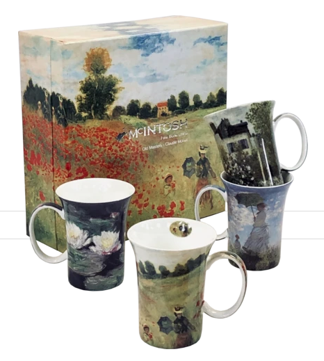 McIntosh Claude Monet Set of 4 Mugs