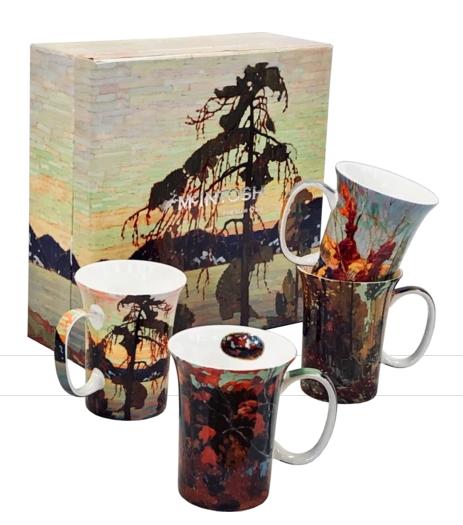 McIntosh Tom Thomson Set of 4 Mugs