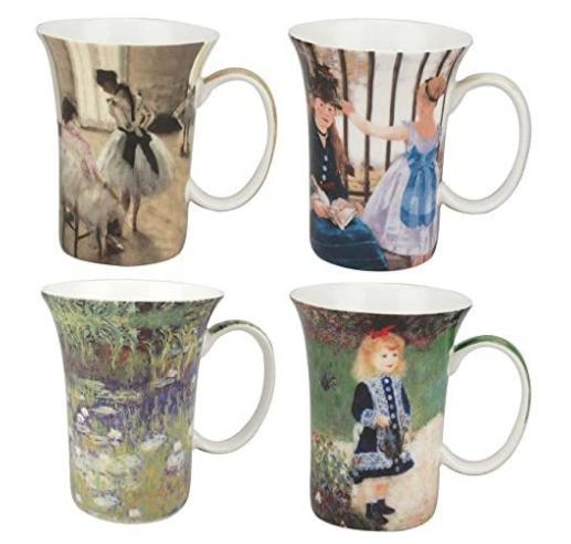 McIntosh Impressionists Set of 4 Mugs