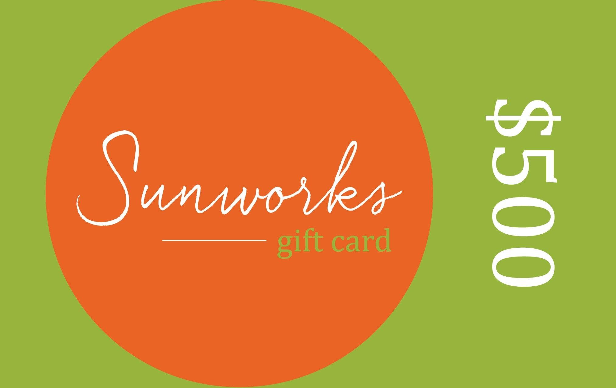Sunworks Living Sunworks Living Gift Card