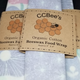 "CCBee's Natural Products Organic Cotton Bee Wax Food Wrap 8"" x 8"""