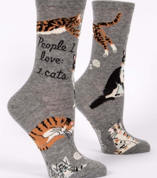 Blue Q Women's Crew Socks: People I love: Cats