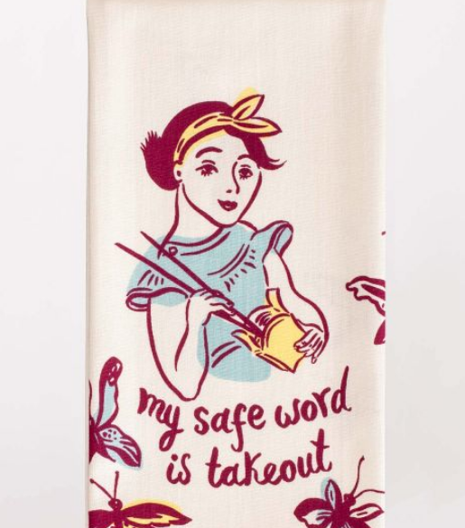 Blue Q Dish Towel: Safe Word is Takeout