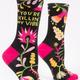 Blue Q Women's Crew Socks: Killin' my Vibe