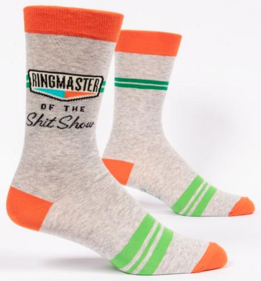 Blue Q Men's Socks: Ringmaster Shit Show