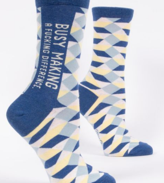 Blue Q Women's Crew Socks: Making a Difference
