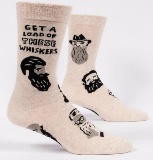 Blue Q Men's Socks: Whiskers