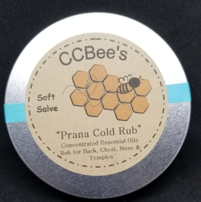 CCBee's Natural Products Prana Therapeutic Rub Cold or Headaches