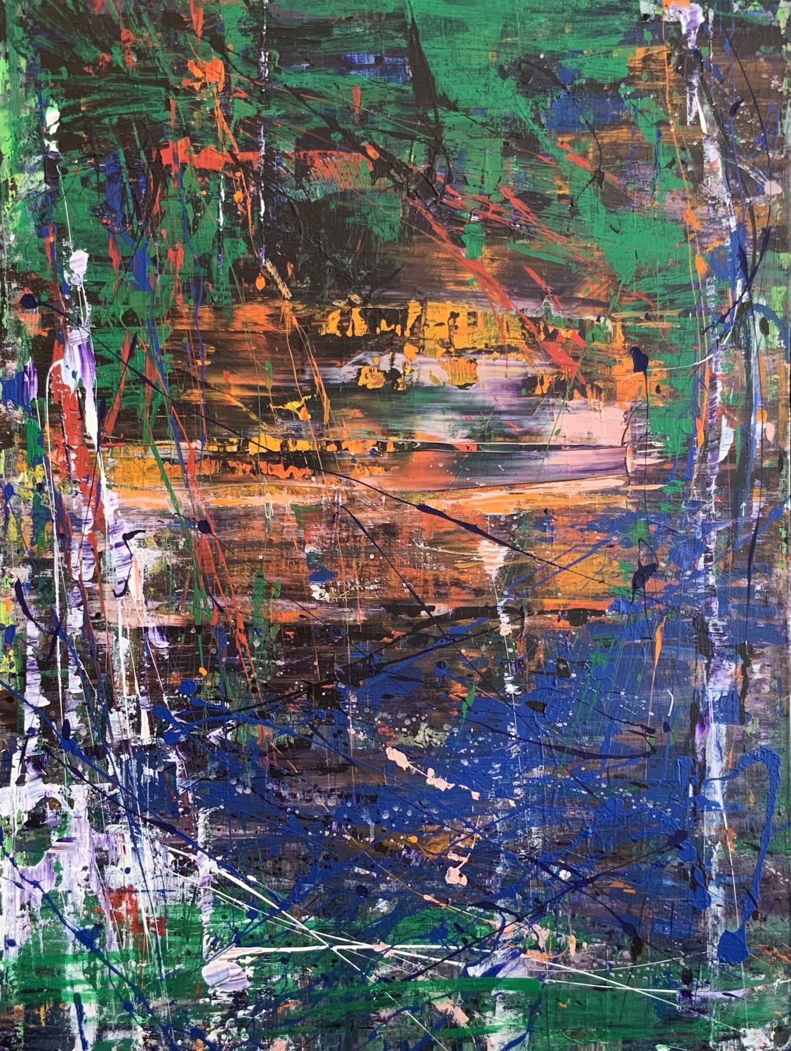 "Jeri Lynn Ing Jeri Lynn Ing: Manoise River Series No.7 2019 23.5""x31.5"""