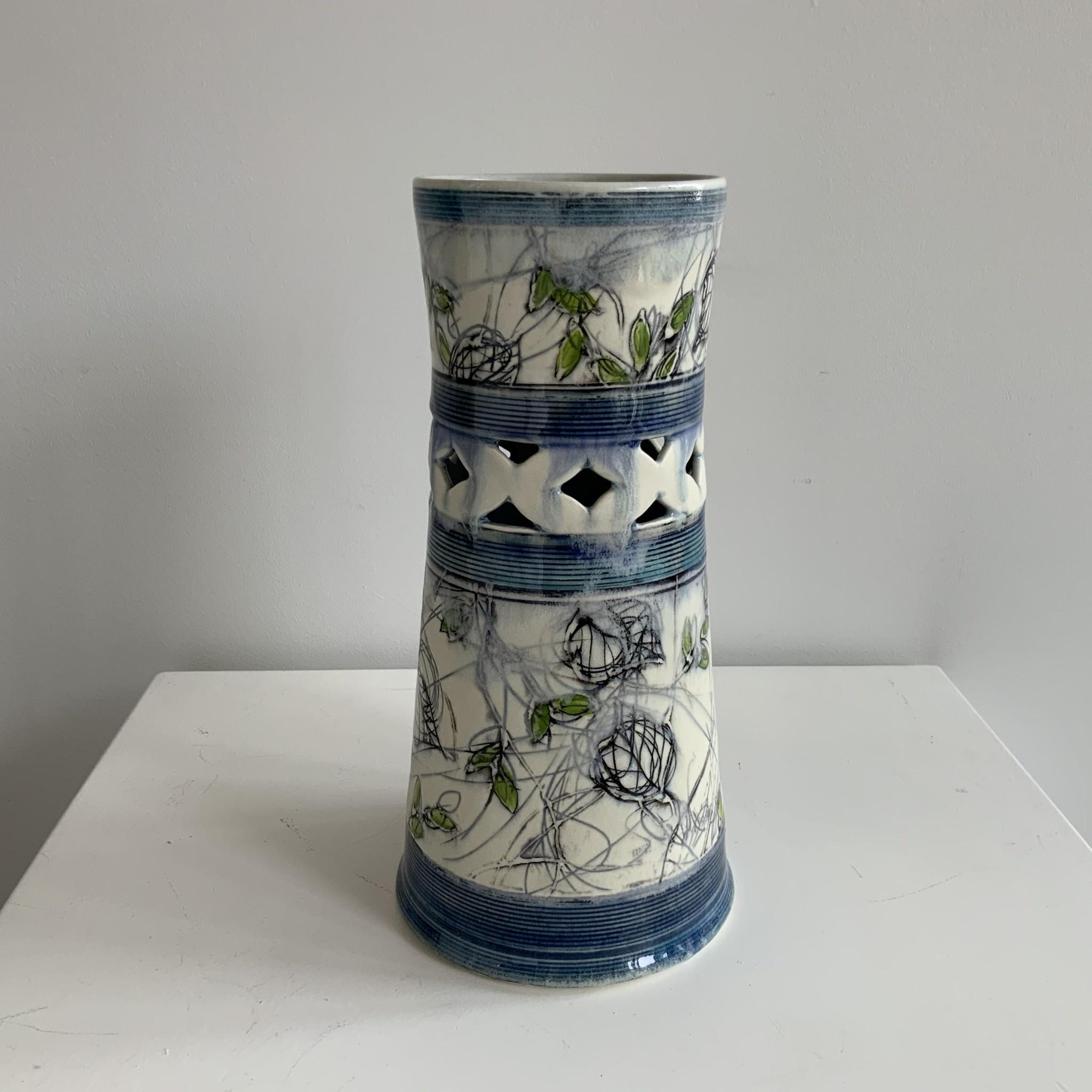 Little Sister Pottery - Large Pierced Flower Vase