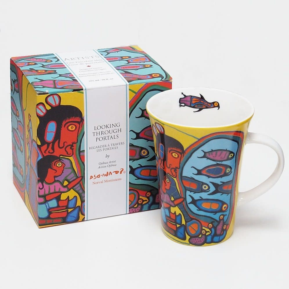 Oscardo Norval Morrisseau Looking Through Portal Porcelain Mug