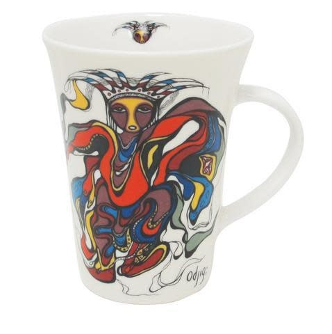 Oscardo Daphne Odjig Pow Wow Dancer Porcelain Mug