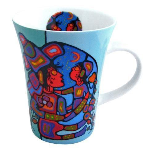 Oscardo Norval Morrisseau Mother and Child Porcelain Mug
