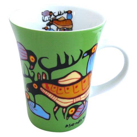 Oscardo Norval Morrisseau Moose Harmony Porcelain Mug
