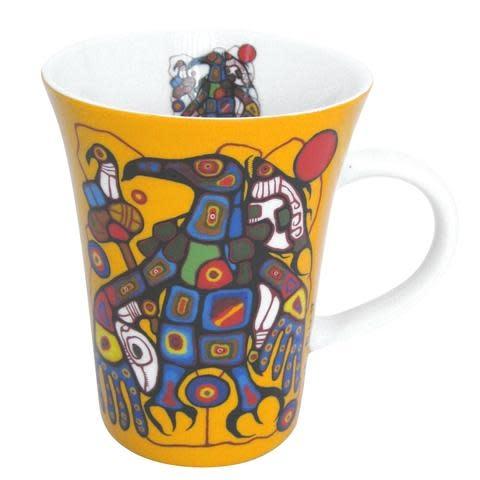 Oscardo Norval Morrisseau Man Changes into Thunderbird Porcelain Mug
