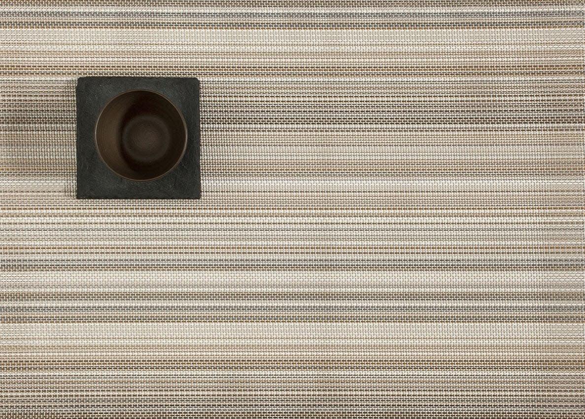 Chilewich Placemat 14x19: Multi Stripe CHAMPAGNE