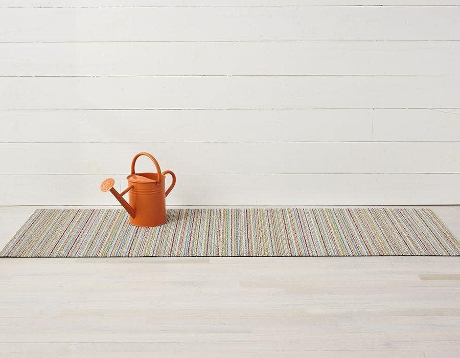 Chilewich Big Mat 36x60: Shag Skinny Stripe SOFT MULTI