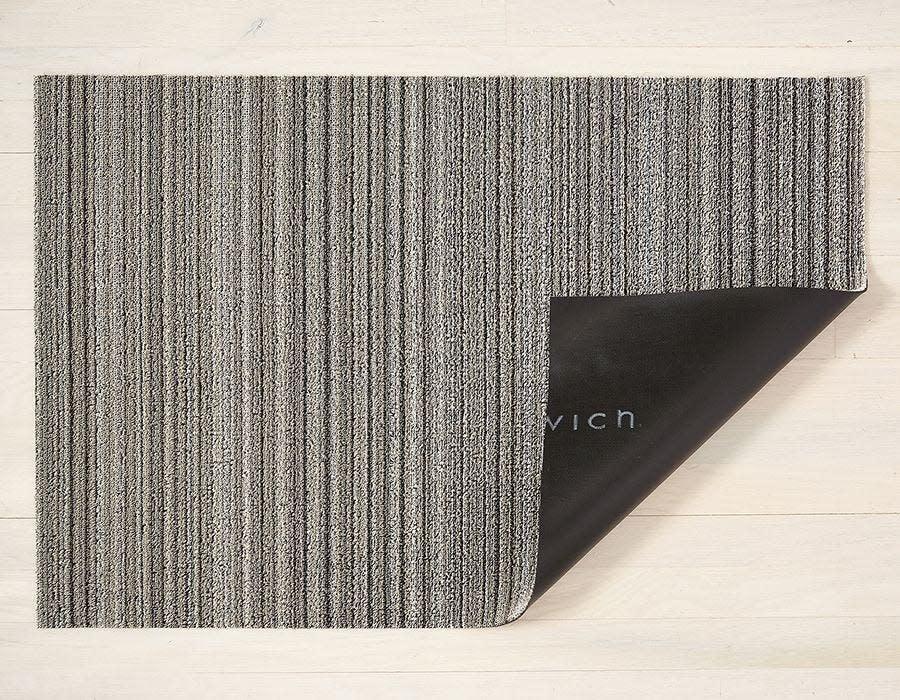 Chilewich Doormat 18x28: Shag Skinny Stripe BIRCH