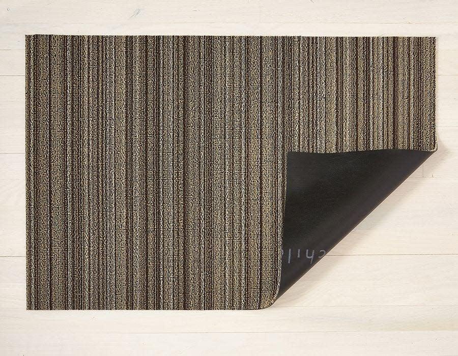 Chilewich Runner 24x72: Shag Skinny Stripe MUSHROOM
