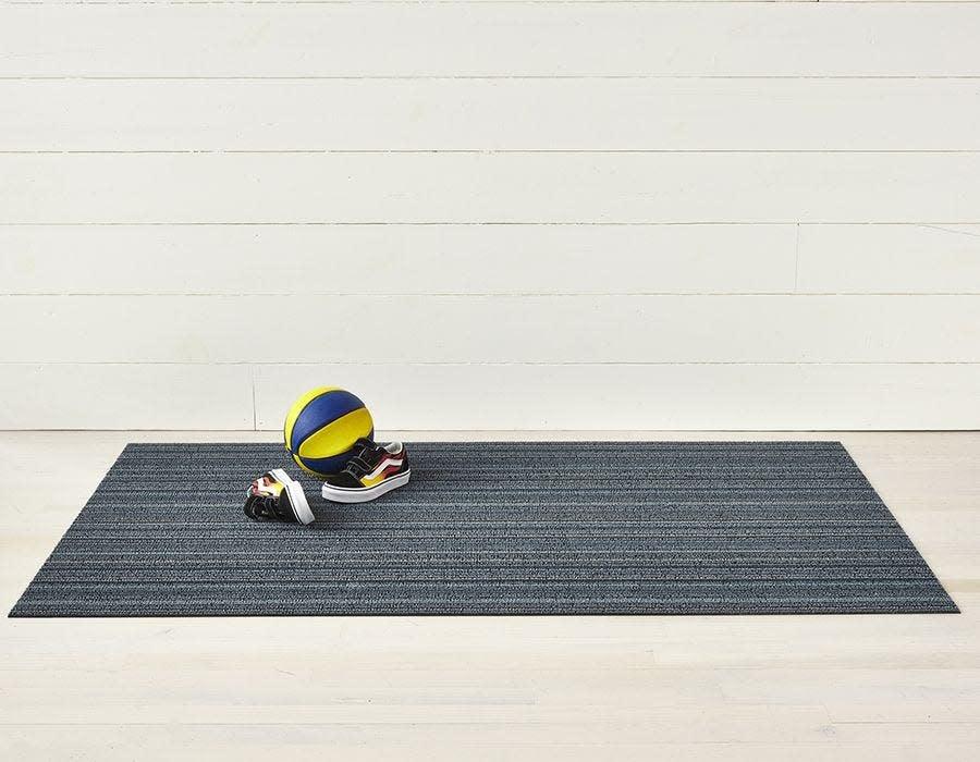 Chilewich Doormat 18x28: Skinny Stripe BLUE