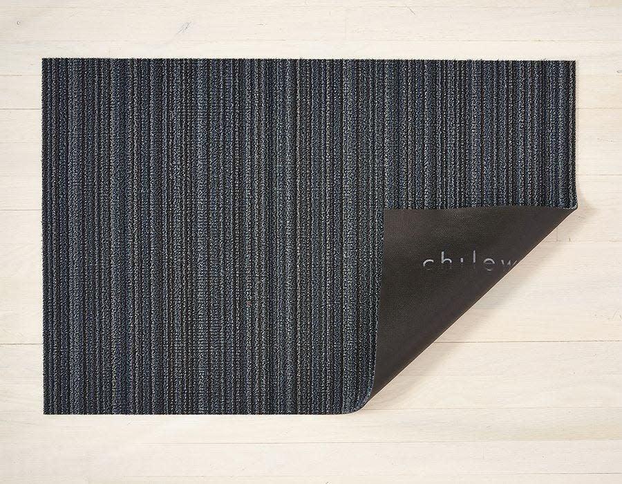 Chilewich Utility Mat 24x36: Shag Skinny Stripe BLUE