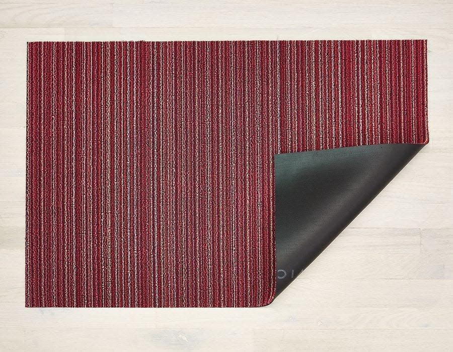 Chilewich Utility Mat 24x36: Shag Skinny Stripe RASPBERRY