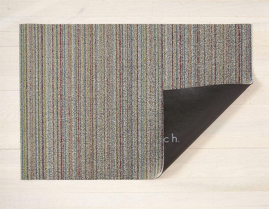 Chilewich Utility Mat 24x36: Shag Skinny Stripe SOFT MULTI
