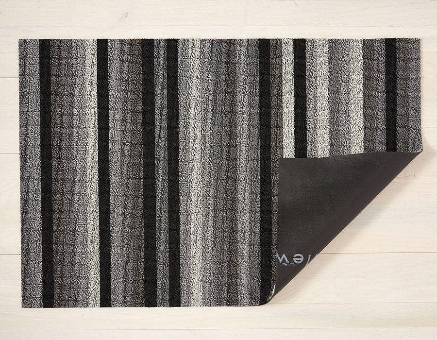 Chilewich Big Mat 36x60: Shag Even Stripe MINERAL