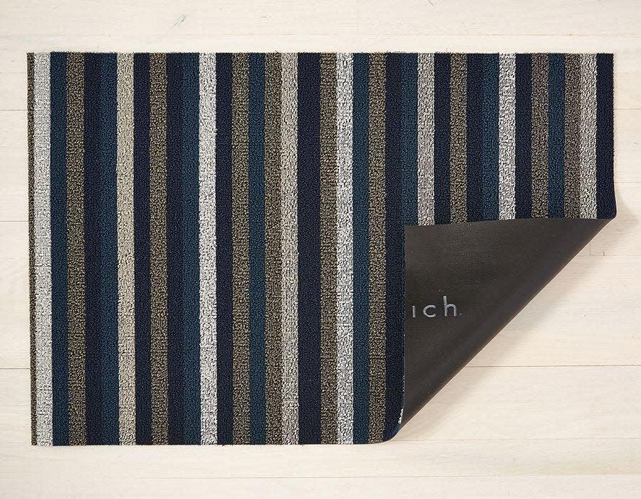Chilewich Utility Mat 24x36: Shag Even Stripe MARINE