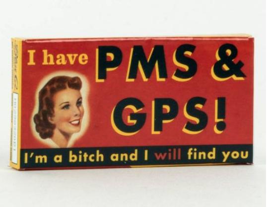 Blue Q Gum: PMS and GPS