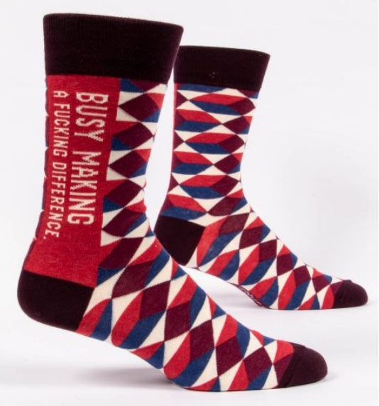 Blue Q Men's Socks: Making a Difference