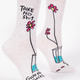 Blue Q Women's Crew Socks: Take No Shit