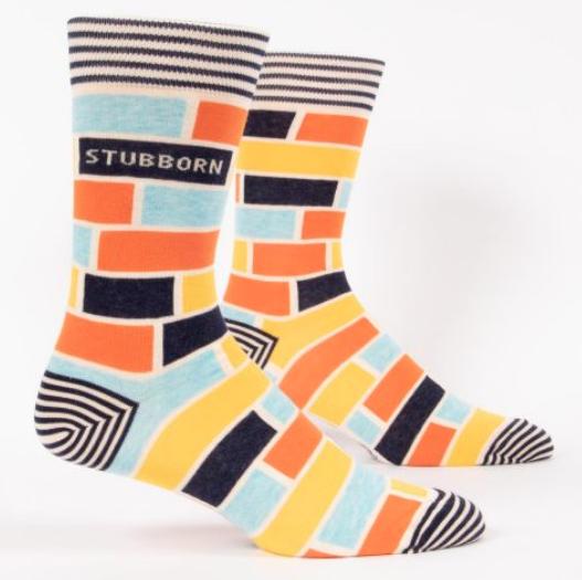 Blue Q Men's Socks: Stubborn