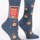 Blue Q Women's Crew Socks: Alarm Bitch