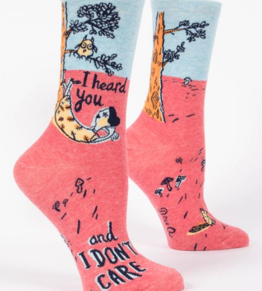 Blue Q Women's Crew Socks: I heard you don't care
