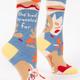 Blue Q Women's Crew Socks: She had travelled far