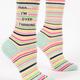 Blue Q Women's Crew Socks: Shhh... I'm Overthinking