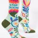 Blue Q Women's Crew Socks: Stop Talking