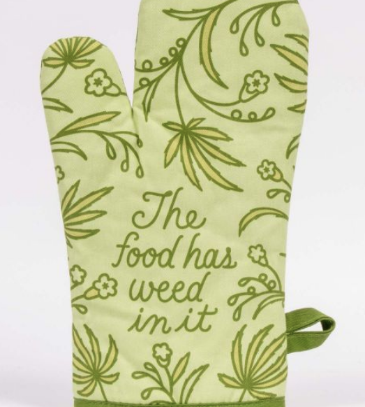 Blue Q Oven Mitts: Food Has Weed in It