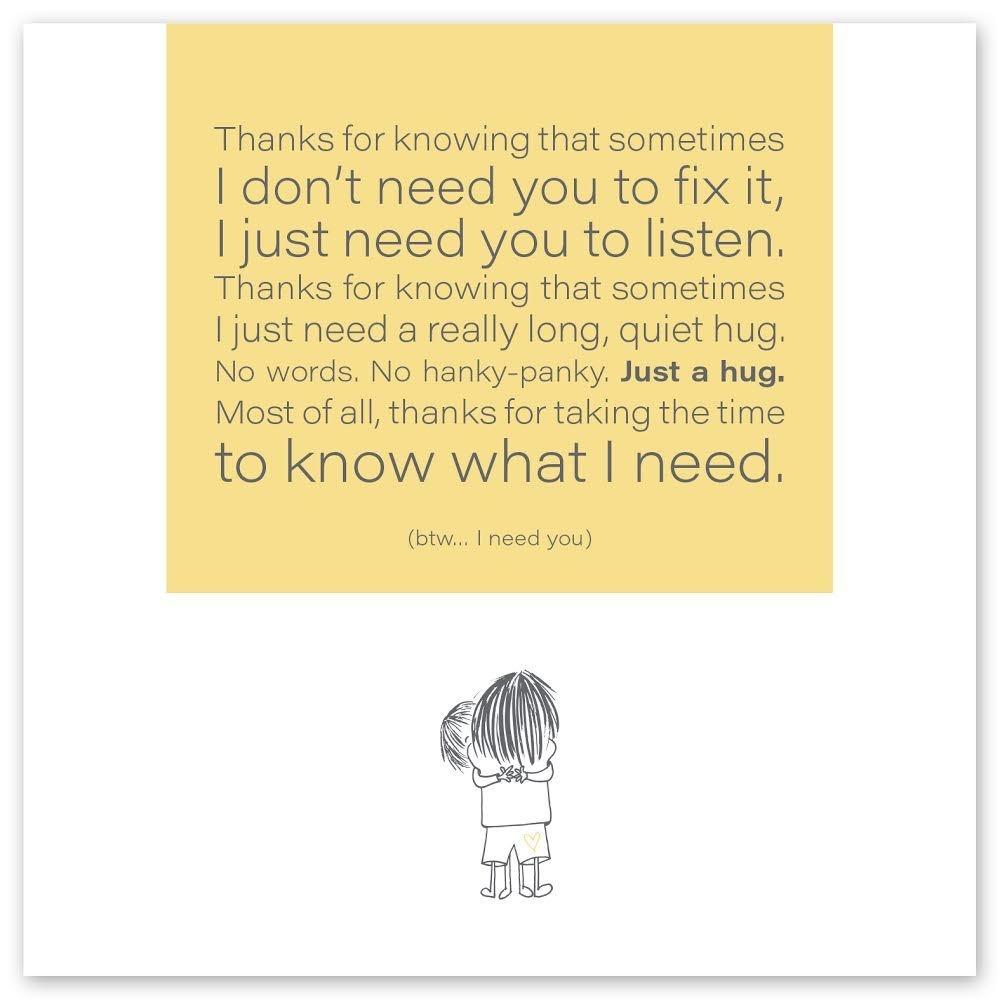 Wild Heart Studios Wild Heart Studio Card: Just a hug