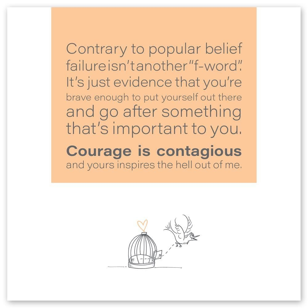 Wild Heart Studios Wild Heart Studio Card: Courage is Contagious