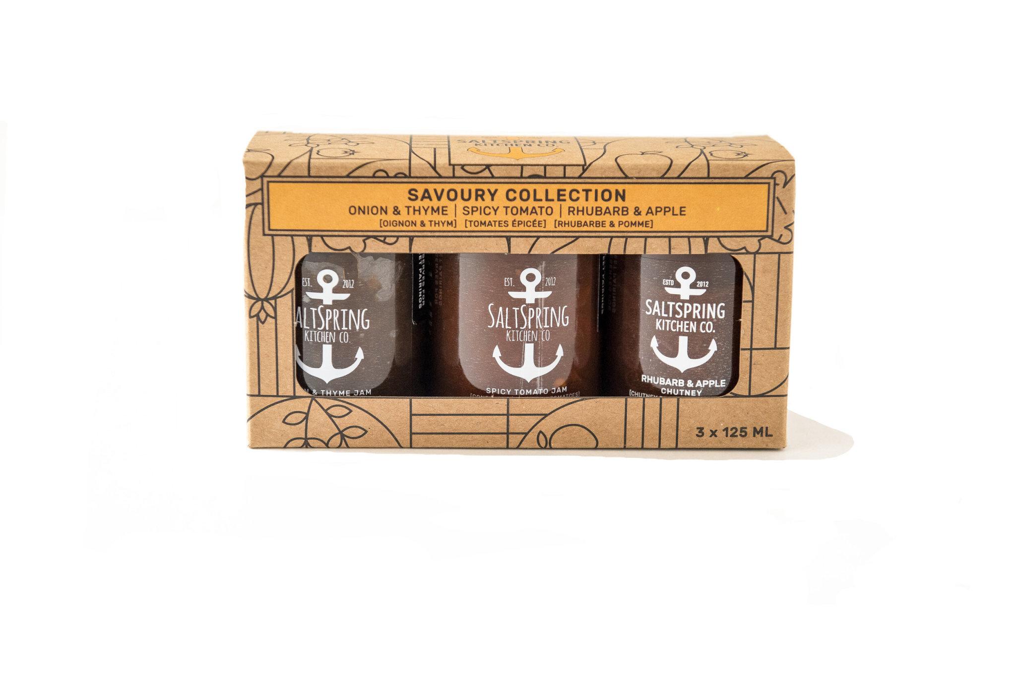 SaltSpring Kitchen Co. Savoury Collection Gift Box 3x125ml Jars