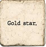 Studio Vertu Marble Coaster - Gold Star