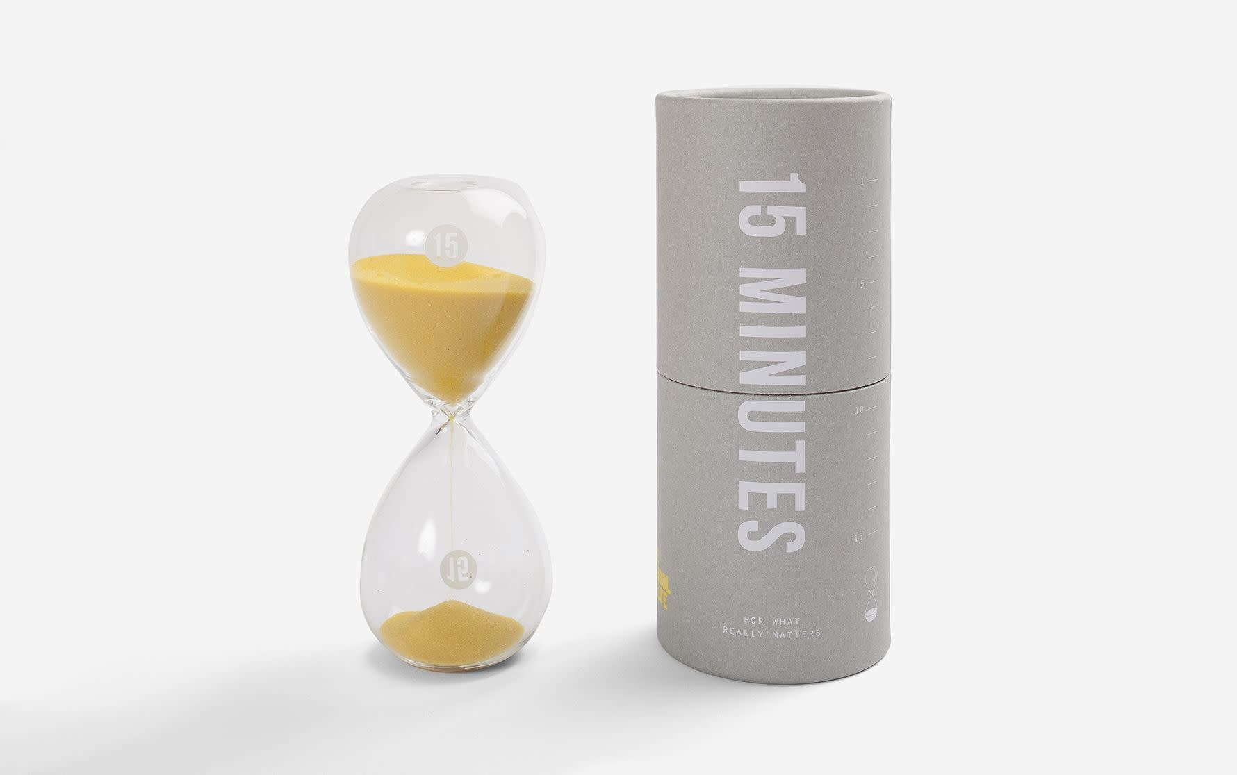 School of Life Glass Timer - 15 Minute Glass Timer