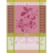 """Garner-Thiebaut Fraisier Rose Kitchen Towel 22"""" x 30"""""""